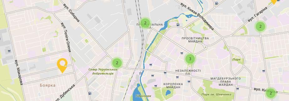Карта України Рівненській області Відділення УкрПошта